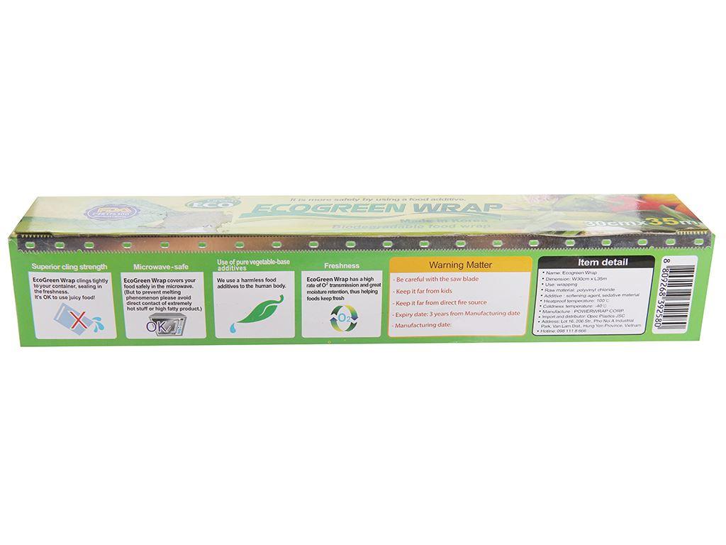 Màng bọc thực phẩm PVC Green Eco 30cm x 35m 2