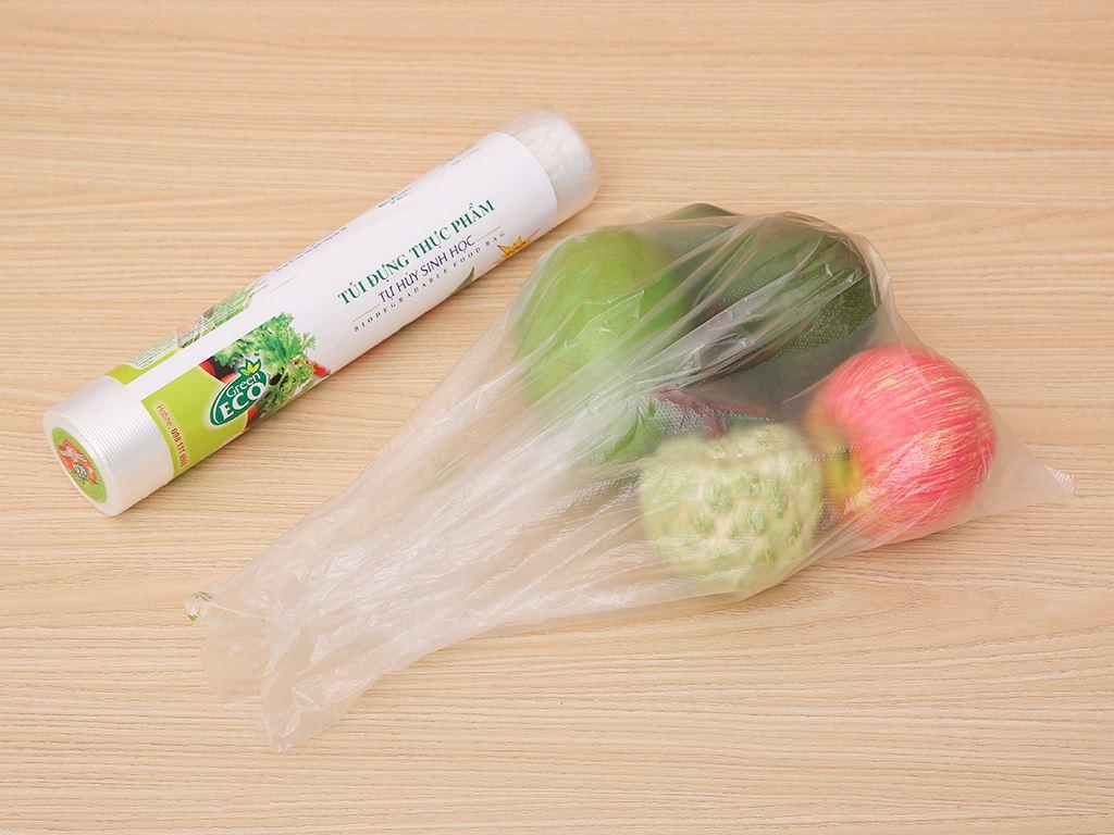 Túi đựng thực phẩm tự huỷ sinh học Green Eco 30 x 40cm (200 túi) 4