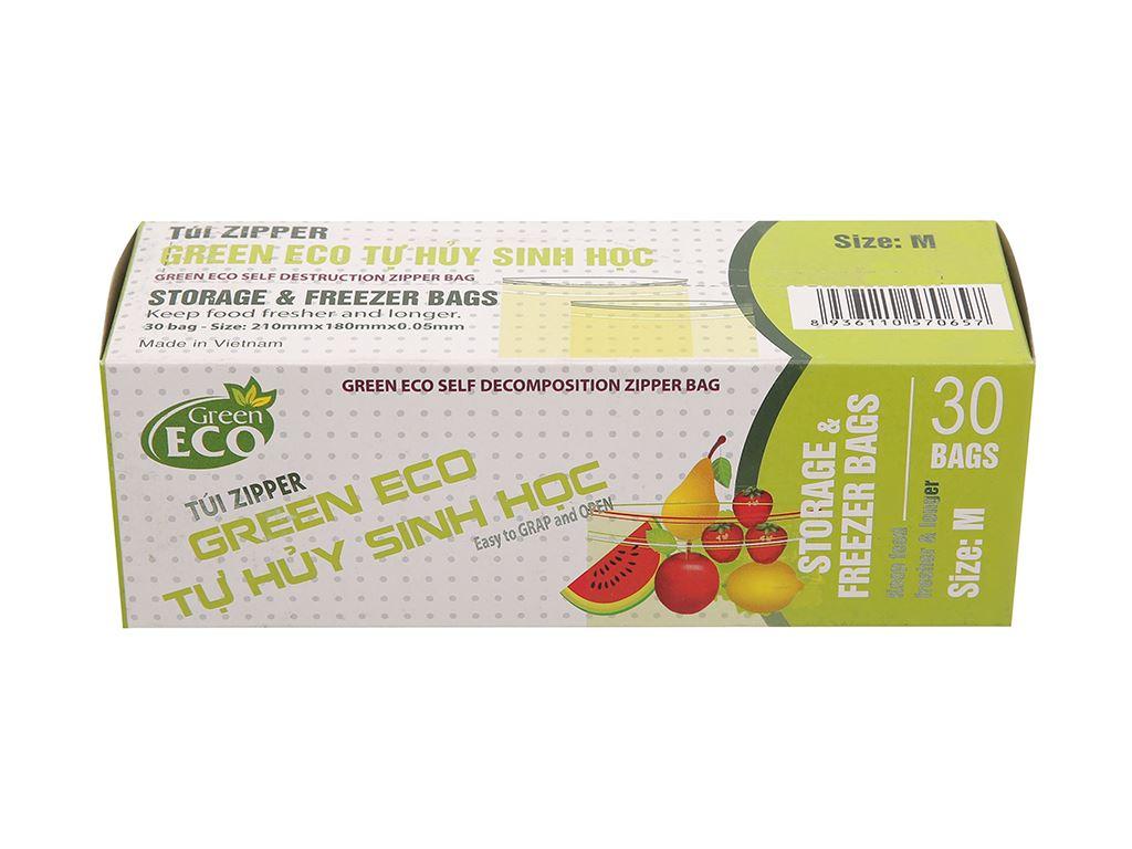 Túi zipper tự hủy sinh học Green Eco 18 x 21cm (30 túi) 1
