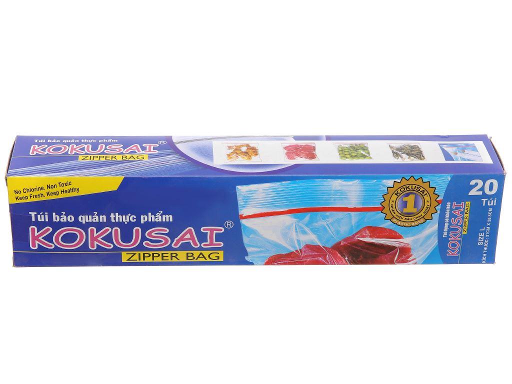 Túi zipper bảo quản thực phẩm PE Kokusai 26.5 x 31cm (20 túi) 1
