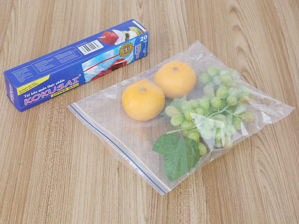 Túi zipper bảo quản thực phẩm PE Kokusai 26.5 x 31cm (20 túi) 4