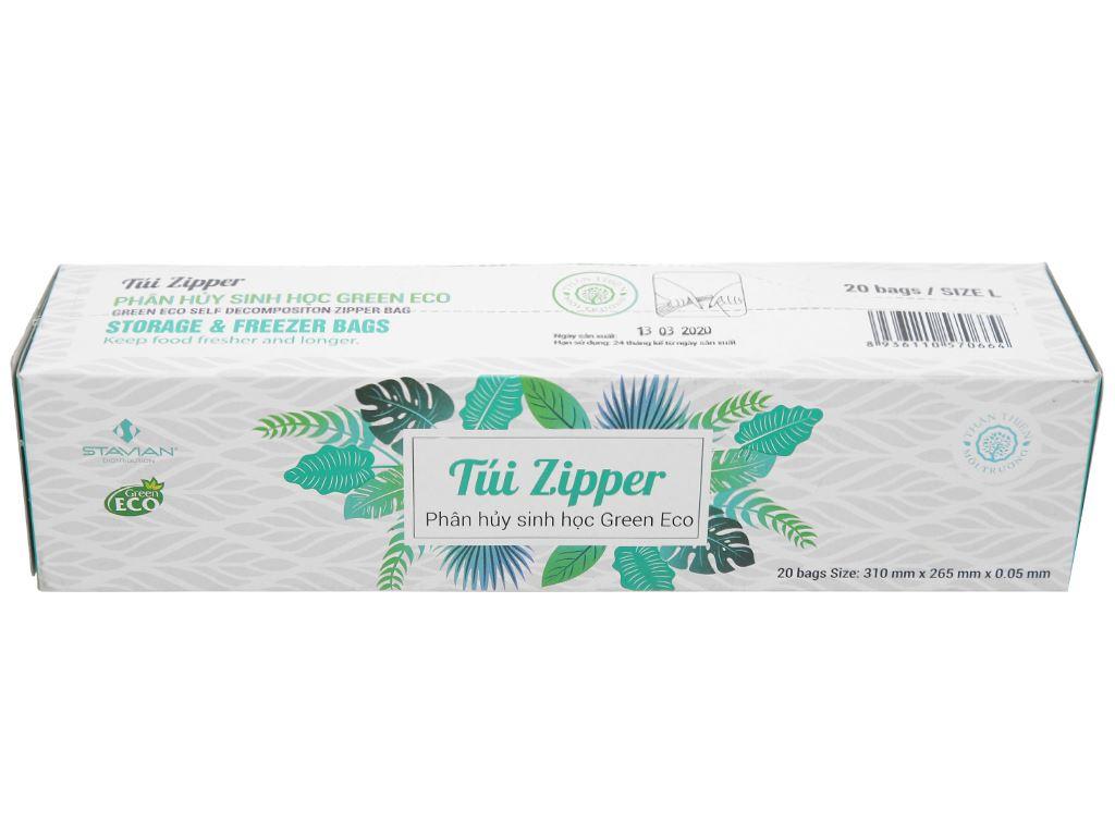 Túi zipper tự hủy sinh học Green Eco 26.5 x 31cm (20 túi) 1
