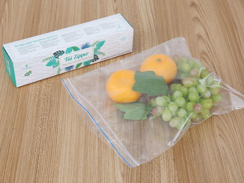 Túi zipper tự hủy sinh học Green Eco 26.5 x 31cm (20 túi) 4
