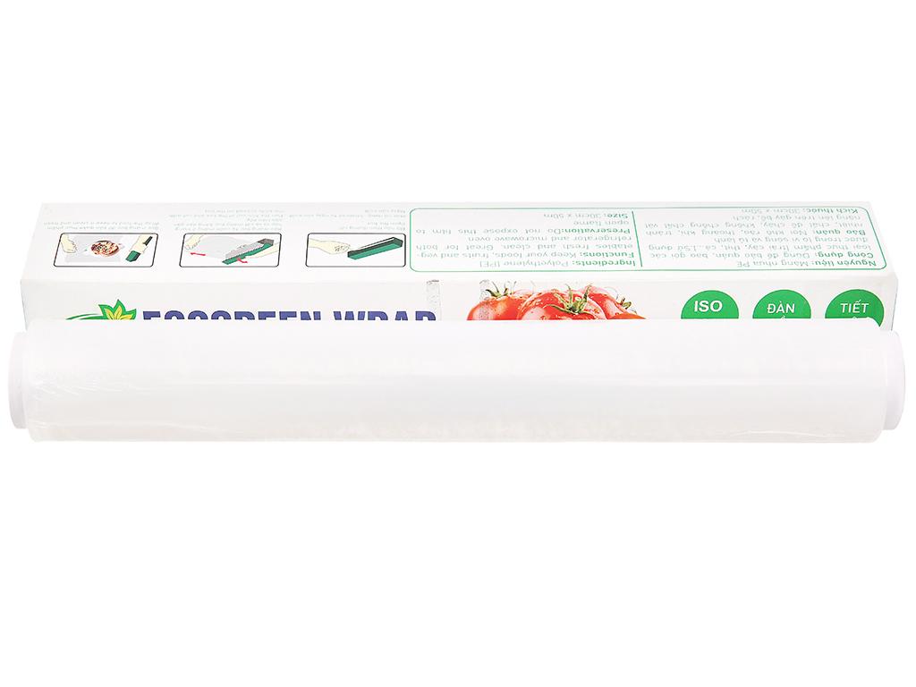 Màng bọc thực phẩm PE Green Eco 30cm x 50m 1