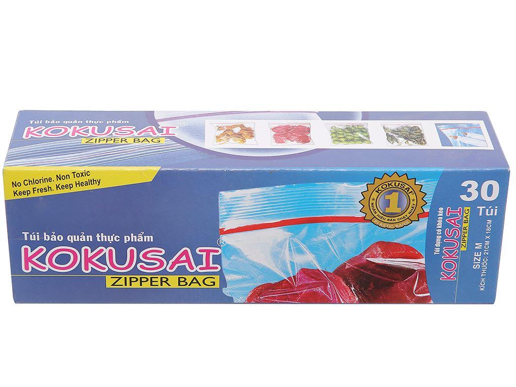 Túi zipper bảo quản thực phẩm Kokusai 18 x 21cm (30 túi) 1