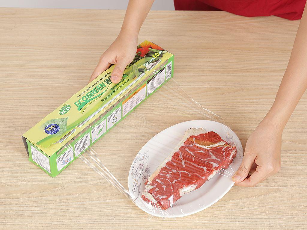 Màng bọc thực phẩm PVC Green Eco 30cm x 60m 3