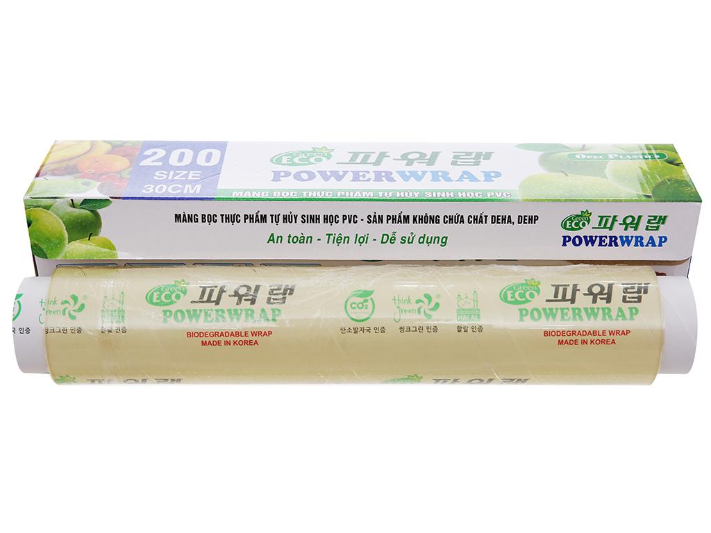 Màng bọc thực phẩm tự huỷ sinh học PVC Green Eco 30cm x 100m 3