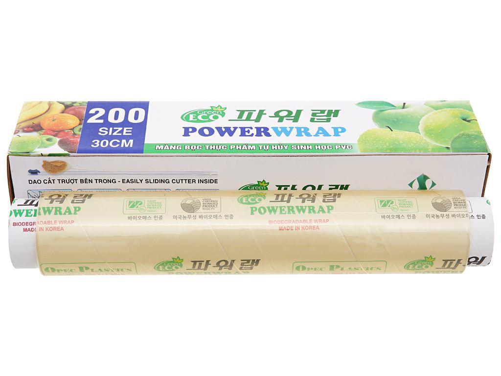 Màng bọc thực phẩm tự huỷ sinh học PVC Green Eco 30cm x 100m 1
