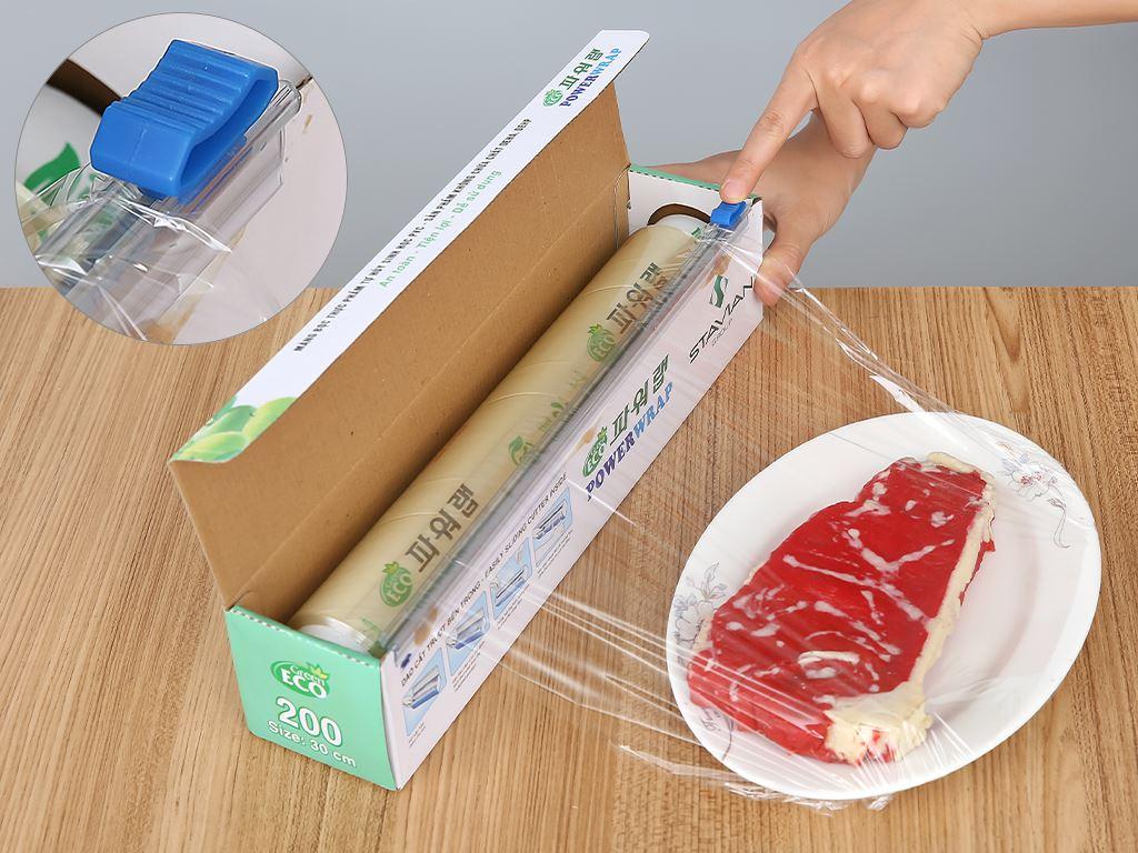 Màng bọc thực phẩm tự huỷ sinh học PVC Green Eco 30cm x 100m 4