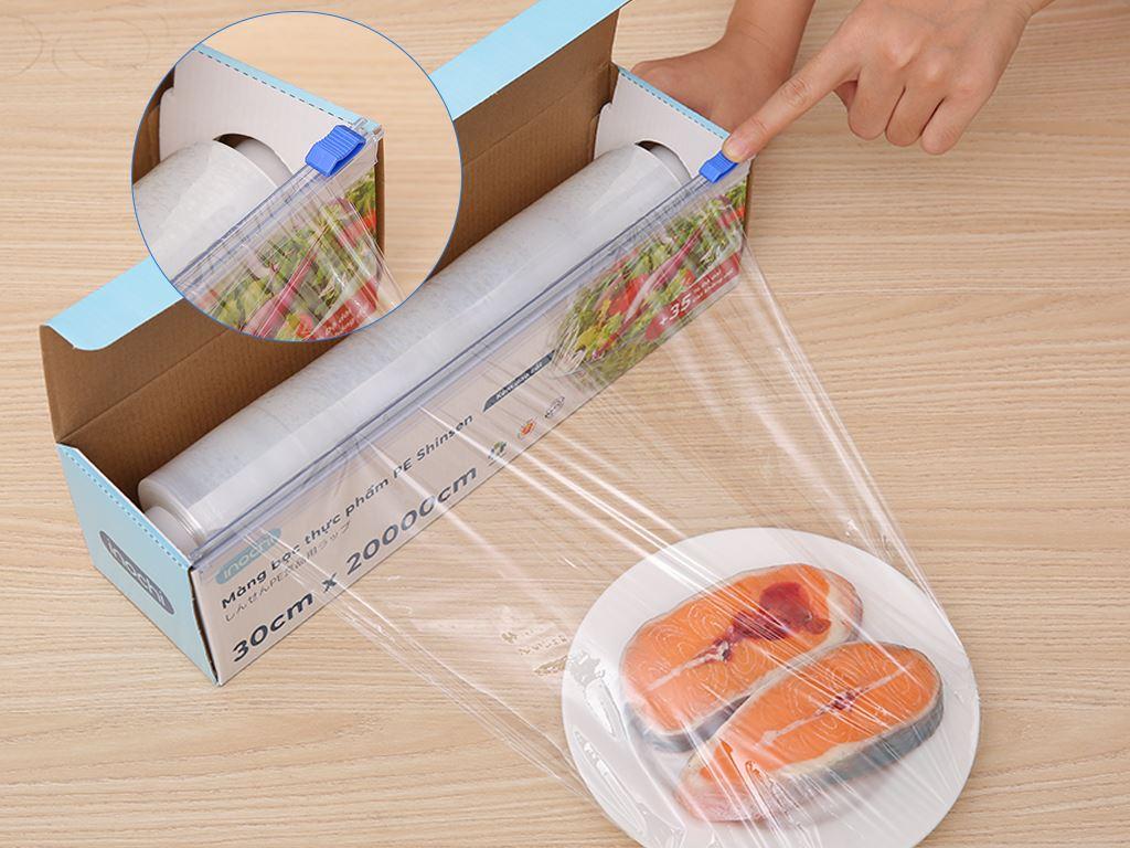 Màng bọc thực phẩm tự huỷ sinh học PVC Inochi 30cm x 200m 4