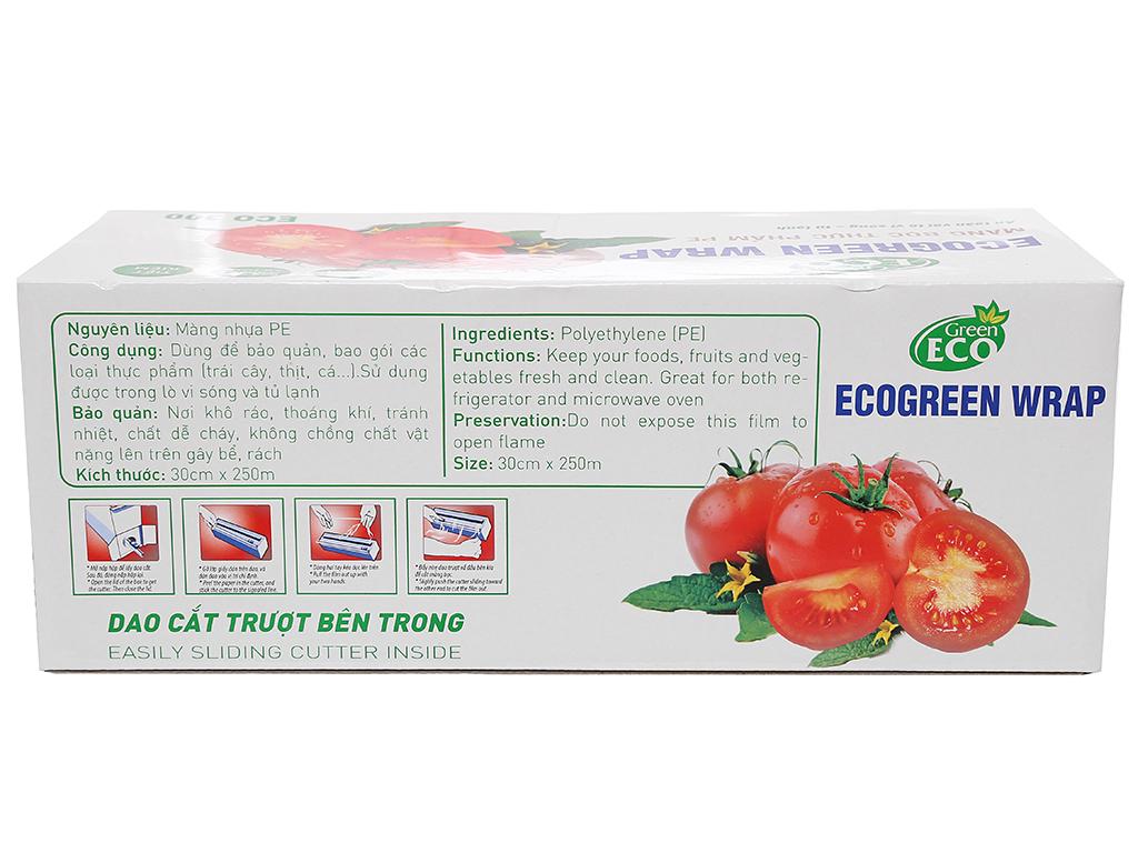 Màng bọc thực phẩm PE Green Eco 30cm x 250m 2