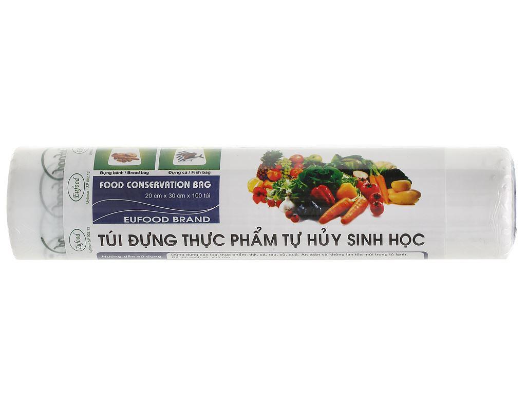 Túi đựng thực phẩm tự huỷ sinh học Eufood 20 x 30cm (100 túi) 1