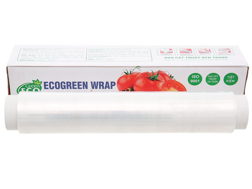 Màng bọc thực phẩm PE Green Eco 30cm x 100m 1