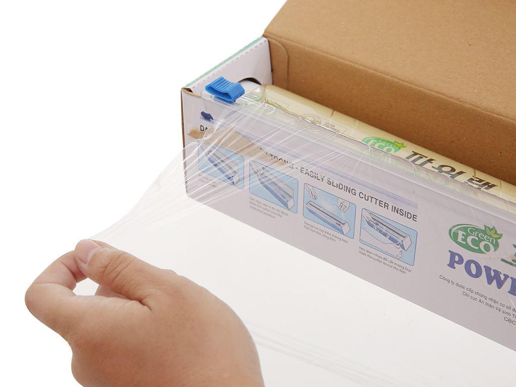 Màng bọc thực phẩm tự huỷ sinh học PVC Green Eco 30cm x 60m 2