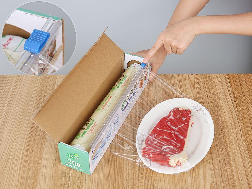 Màng bọc thực phẩm tự huỷ sinh học PVC Green Eco 30cm x 60m 4