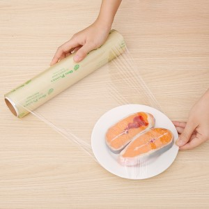 Lõi màng bọc thực phẩm tự huỷ sinh học PVC Green Eco 30cm x 100m
