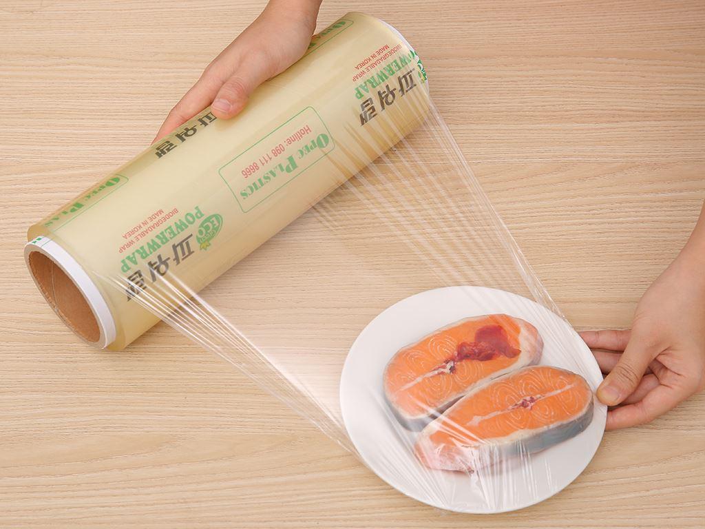 Màng bọc thực phẩm tự huỷ sinh học PVC Green Eco 30cm x 300m 3