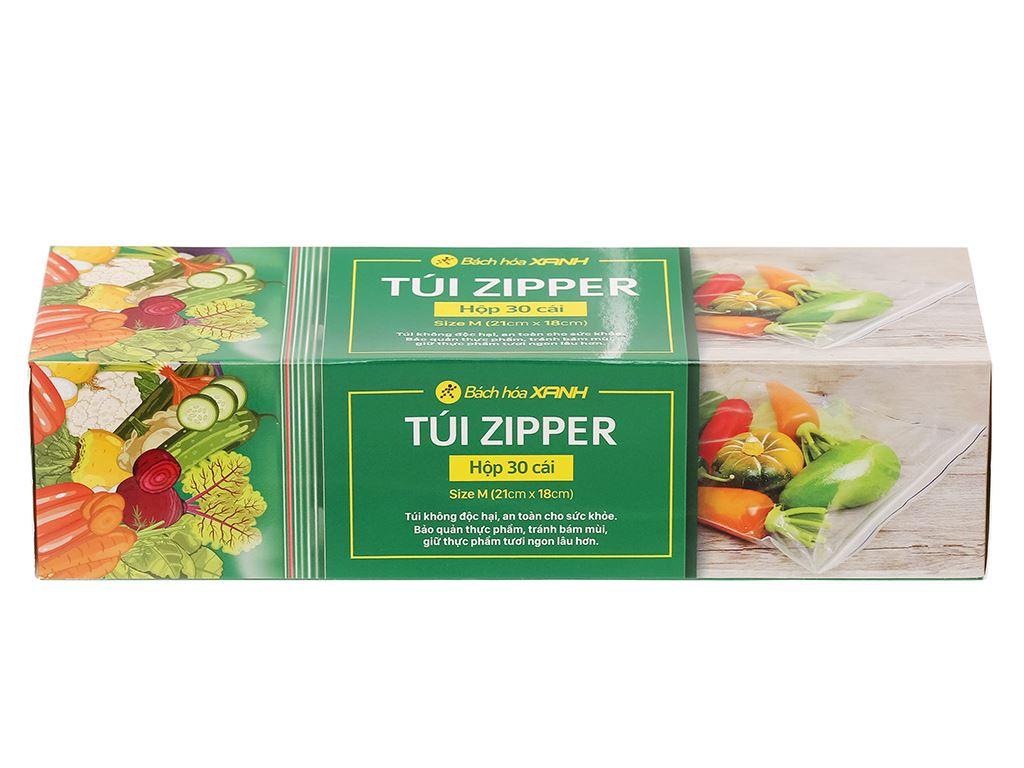 Túi zipper đựng thực phẩm Bách hóa XANH size M hộp 30 cái 1