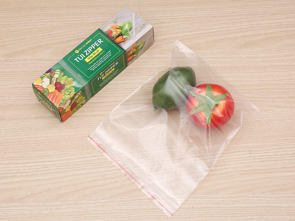 Túi zipper đựng thực phẩm Bách hóa XANH size M hộp 30 cái 4