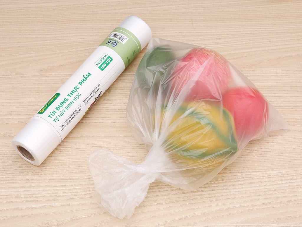 Túi đựng thực phẩm tự hủy sinh học Bách hóa XANH 25 x 35 cm (120 túi) 4