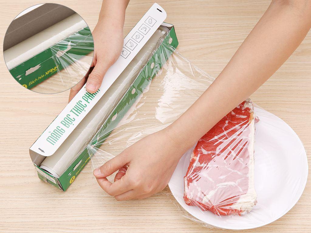 Màng bọc thực phẩm PVC Bách hóa XANH 30cm x 30m 4