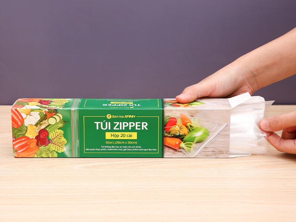 Túi zipper tự hủy sinh học Bách hóa XANH 26cm x 30cm (20 túi) 3