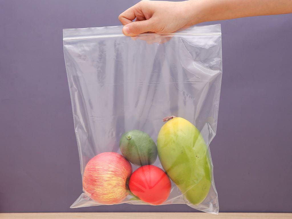 Túi zipper tự hủy sinh học Bách hóa XANH 26cm x 30cm (20 túi) 6