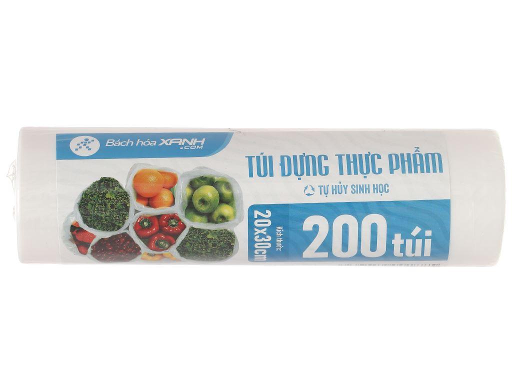 Túi đựng thực phẩm tự hủy sinh học HDPE Bách hóa XANH 20 x 30cm (200 túi) 1