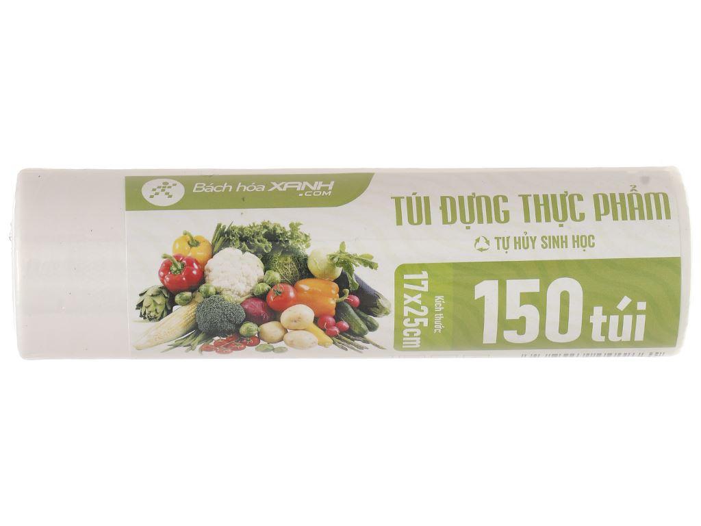 Túi đựng thực phẩm tự hủy sinh học Bách hóa XANH 17 x 25cm (150 túi) 2