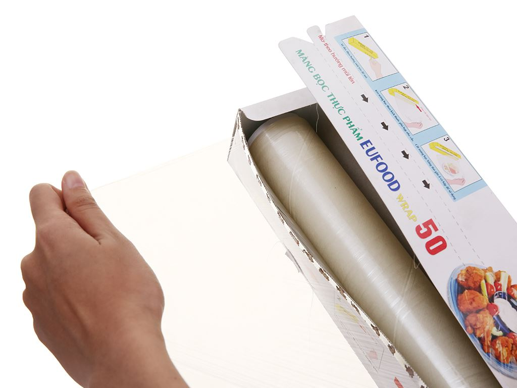 Màng bọc thực phẩm PVC Eufood 30cm x 50m 2