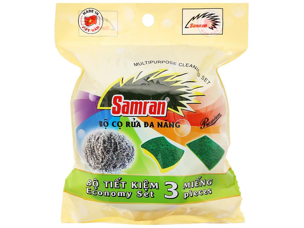 Bộ 3 miếng cọ rửa đa năng Samran 1