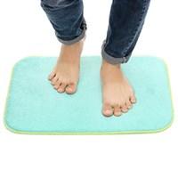 Thảm chùi chân 2 mặt 50x35cm Homeinno HCN xanh ngọc