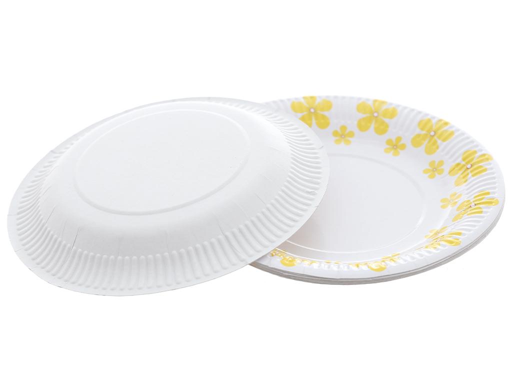 10 cái dĩa giấy in hình Hunufa 17cm 3