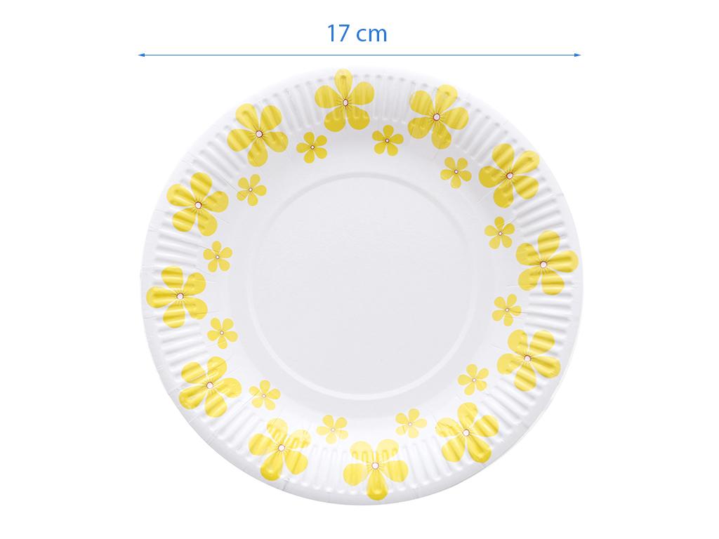 10 cái dĩa giấy in hình Hunufa 17cm 4