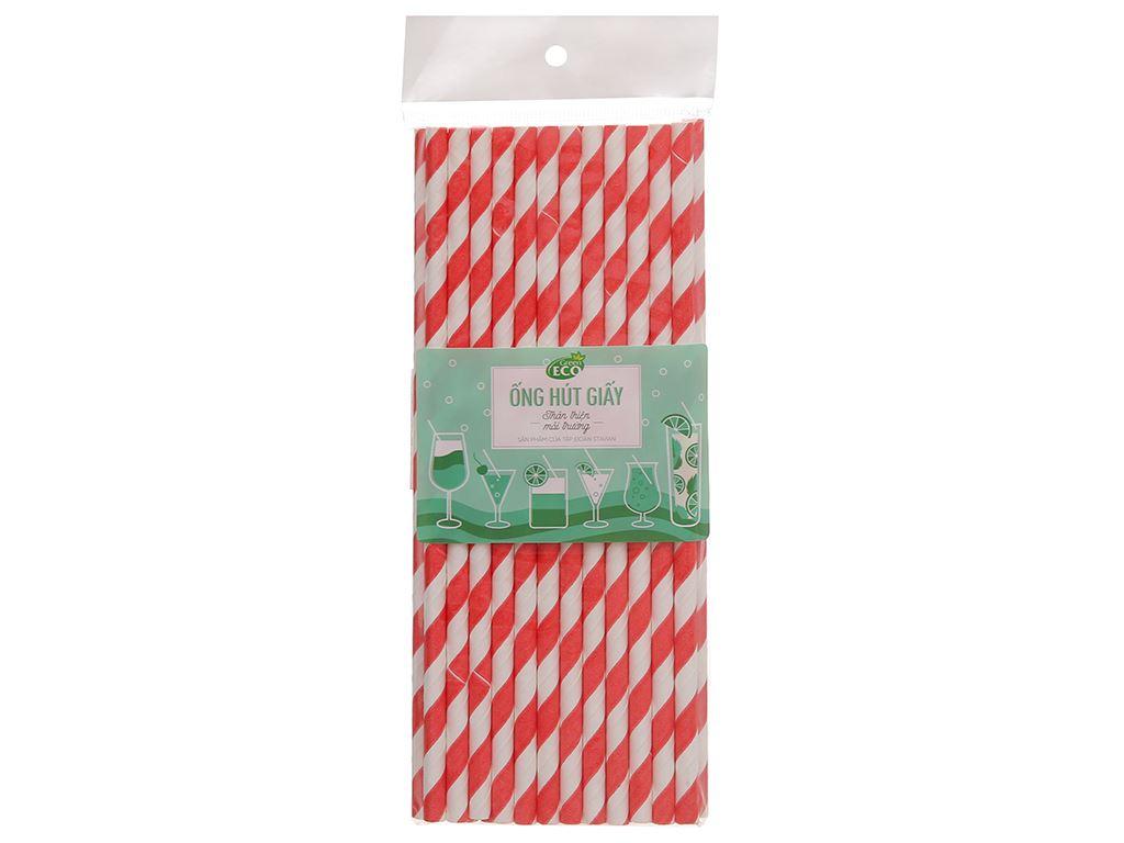 Ống hút giấy Green Eco 19cm (25 cái) (giao màu ngẫu nhiên) 1