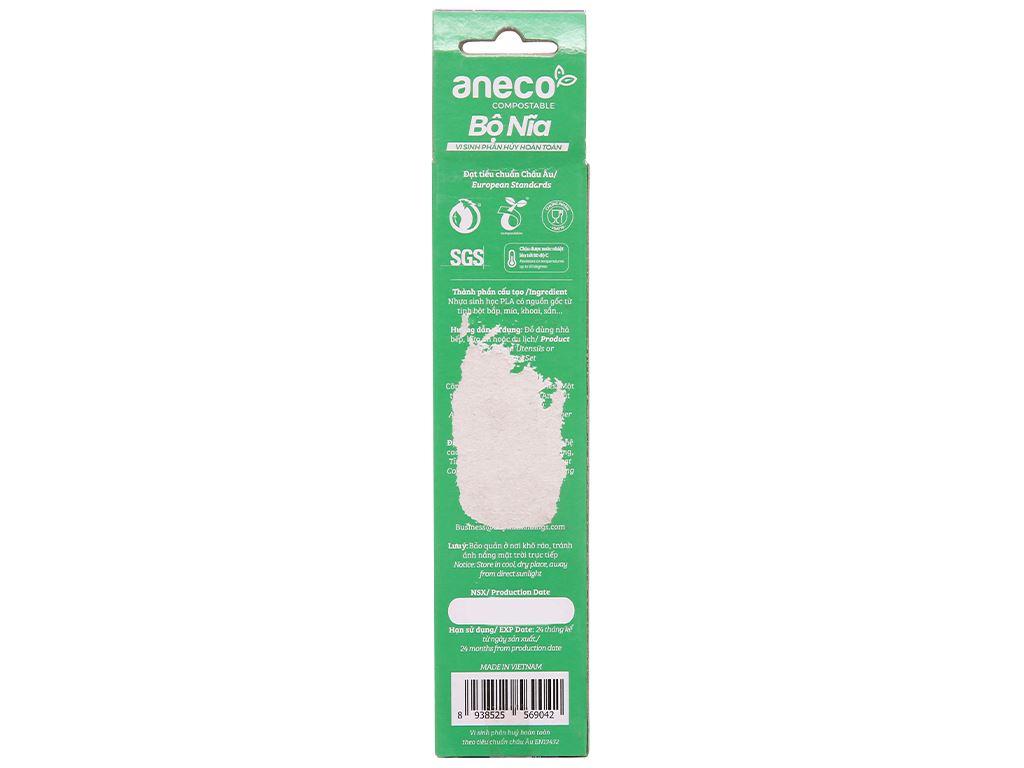 Bộ nĩa vi sinh phân huỷ hoàn toàn Aneco 15cm (10 cái) 2