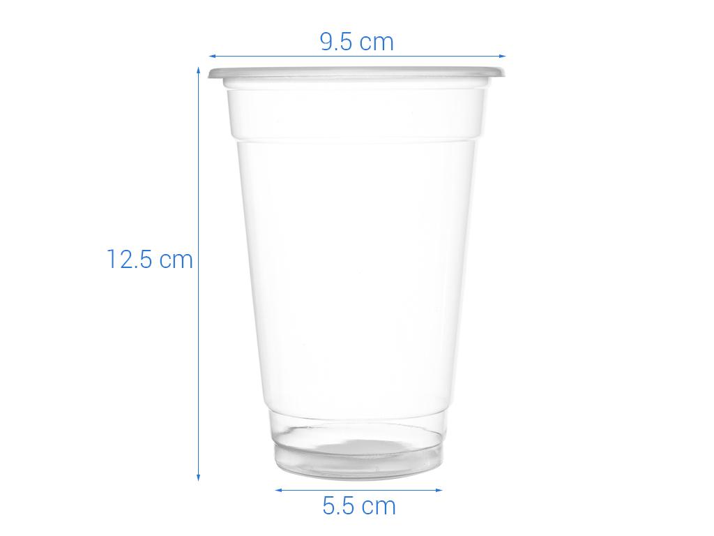 Ly nhựa trong Bách Hoá Xanh BPPP 500ml (10 cái) 5