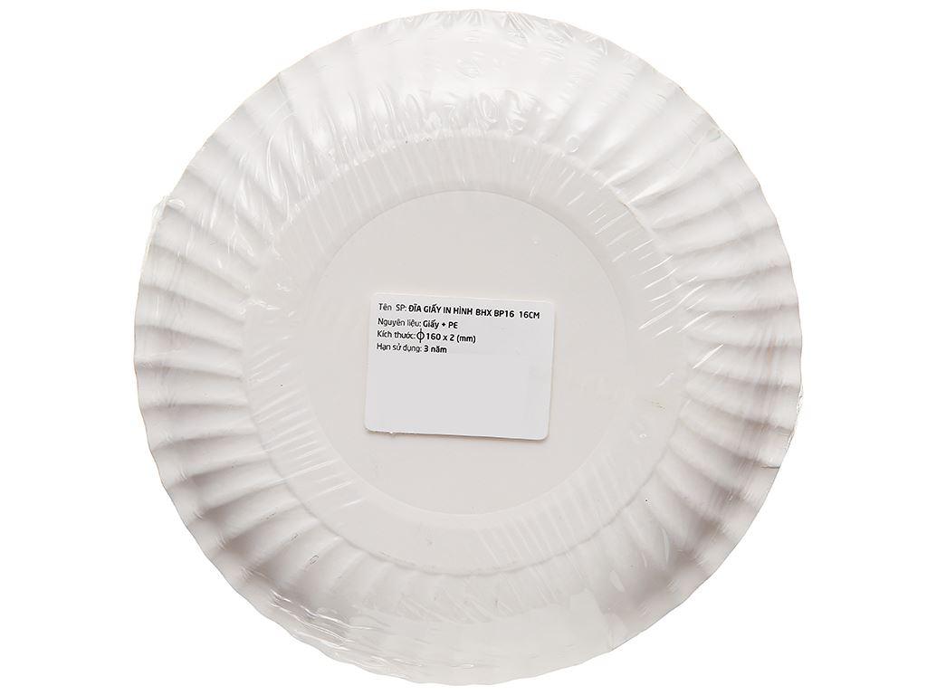 Dĩa giấy in hình Bách Hoá Xanh BP16 16cm (10 cái) (giao màu ngẫu nhiên) 5