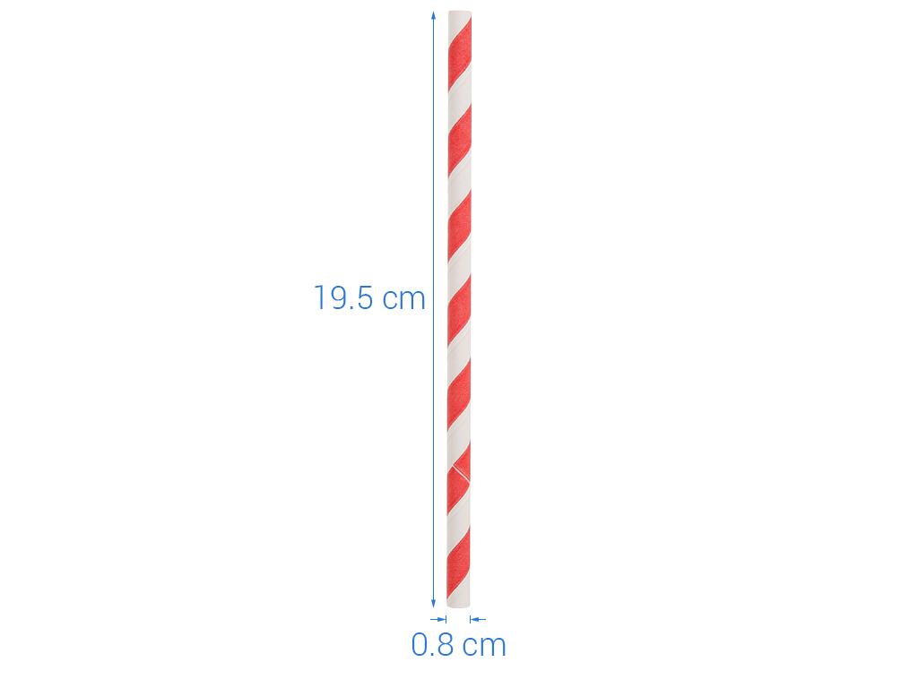 Ống hút giấy màu 8ly Casavi 19.5cm x 0.8cm (25 cái) (giao màu ngẫu nhiên) 5