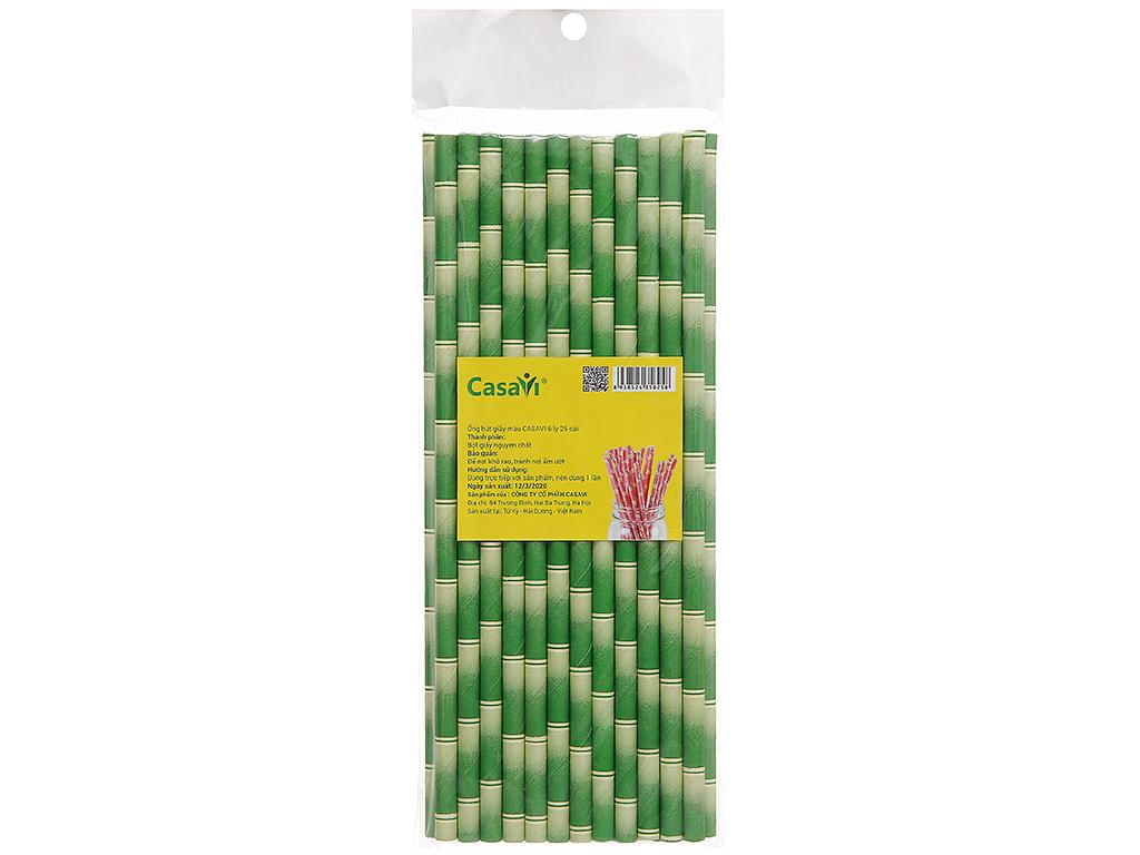 Ống hút giấy màu Casavi 6 ly 19.1cm x 0.8cm (25 cái) (giao màu ngẫu nhiên) 1