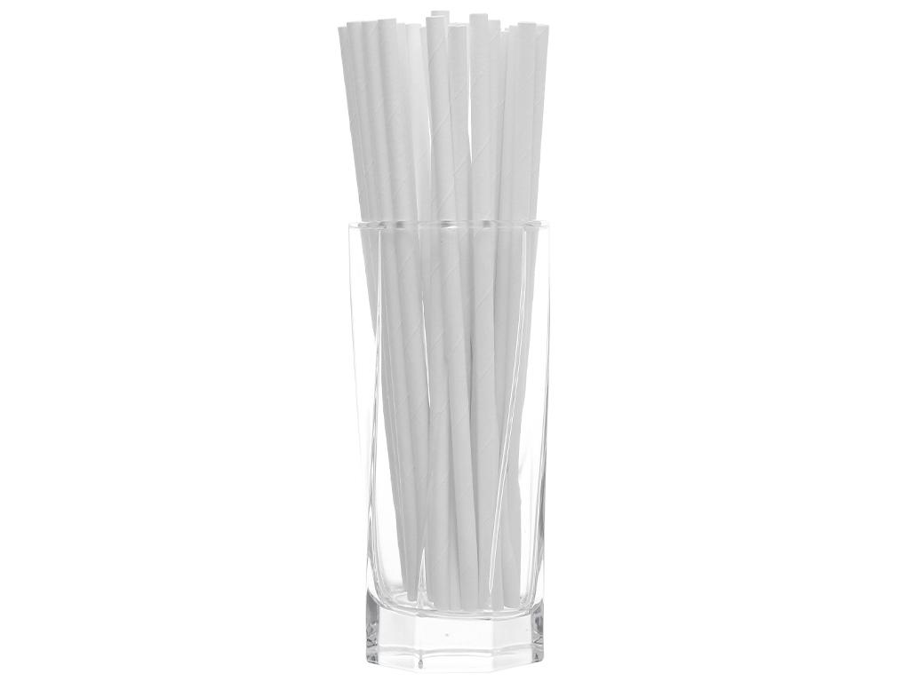 Ống hút giấy trắng Casavi 6 ly (25 cái) 3