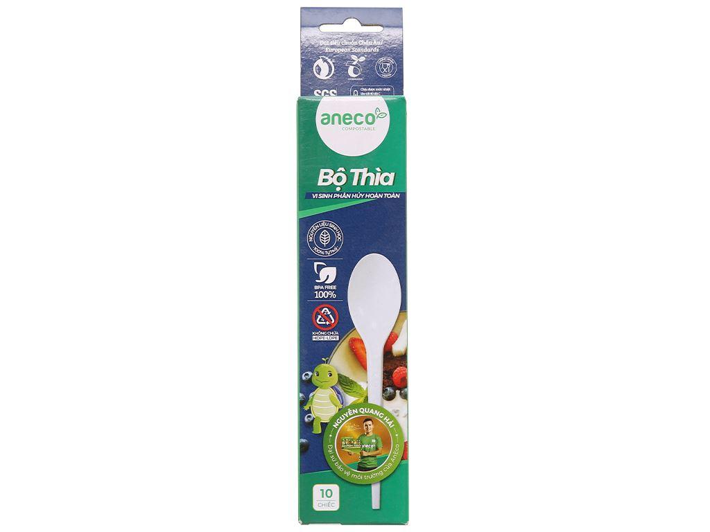Muỗng nhựa trắng Aneco 15cm (10 cái) 1