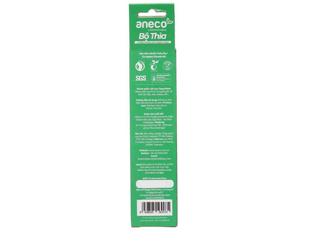 Muỗng nhựa trắng Aneco 15cm (10 cái) 2