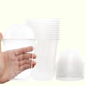 Ly nhựa có nắp Hunufa 002 400ml (10 cái)