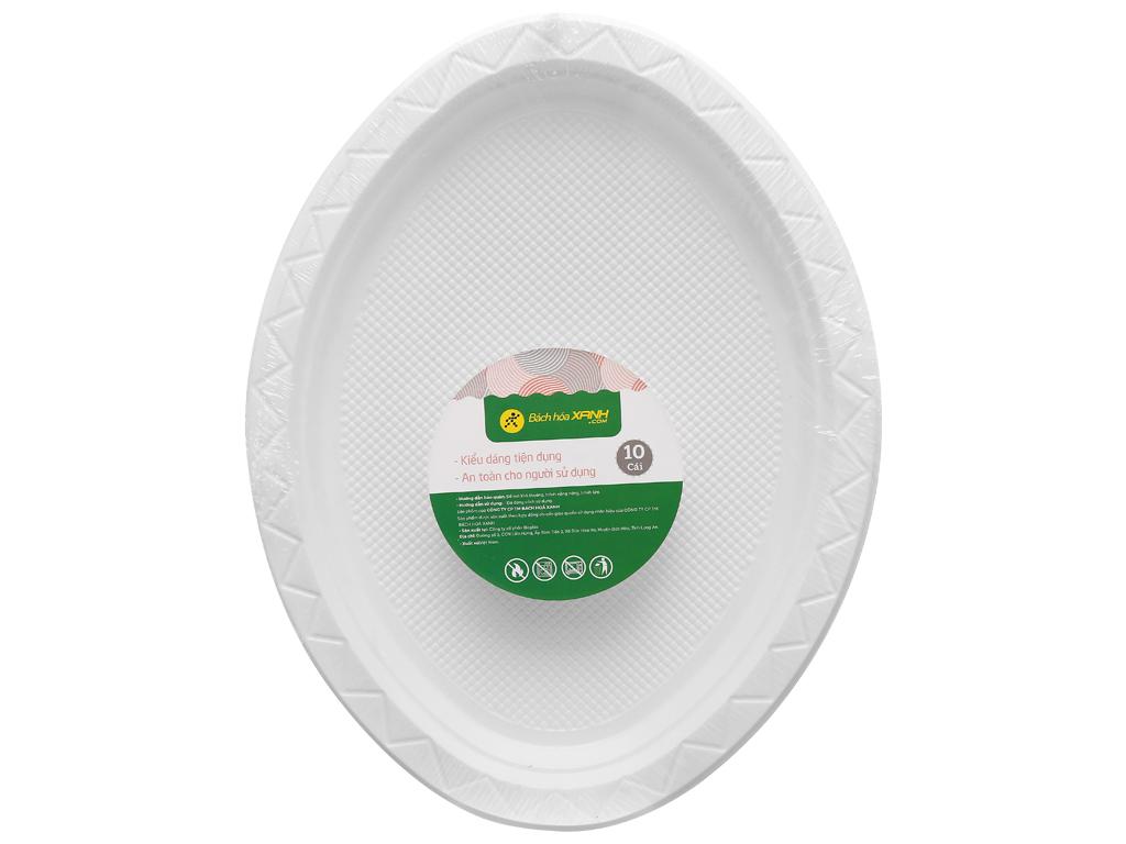 Dĩa oval nhựa Bách Hoá Xanh BPPS 21.5cm (10 cái) 1