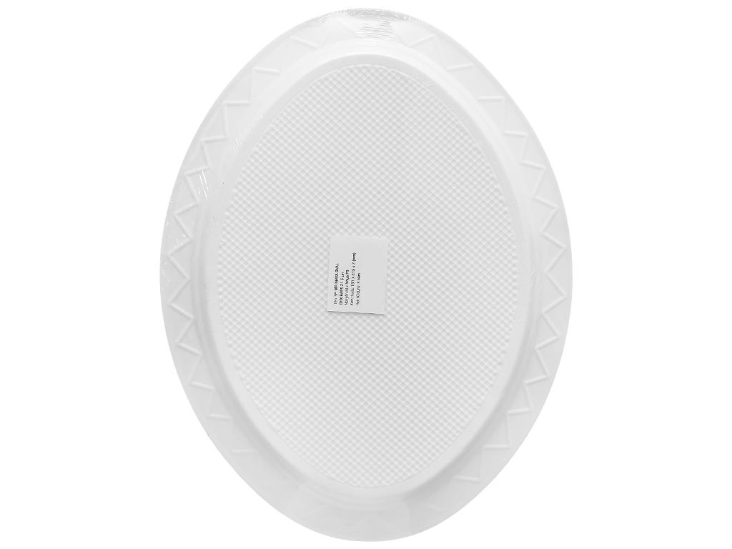 Dĩa oval nhựa Bách Hoá Xanh BPPS 21.5cm (10 cái) 2