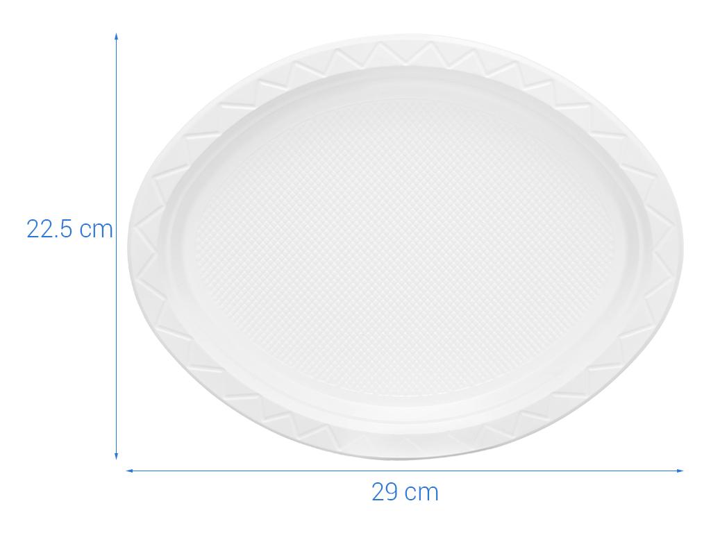 Dĩa oval nhựa Bách Hoá Xanh BPPS 21.5cm (10 cái) 5