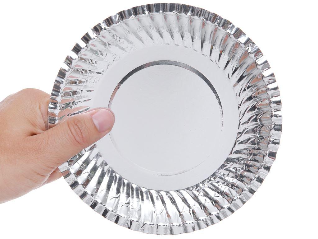 Dĩa giấy phủ bạc Hunufa 16cm (10 cái) 2