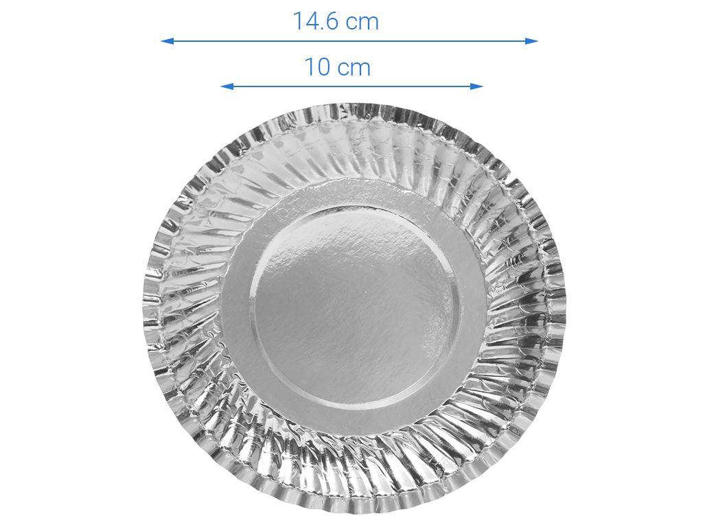 Dĩa giấy phủ bạc Hunufa 16cm (10 cái) 3