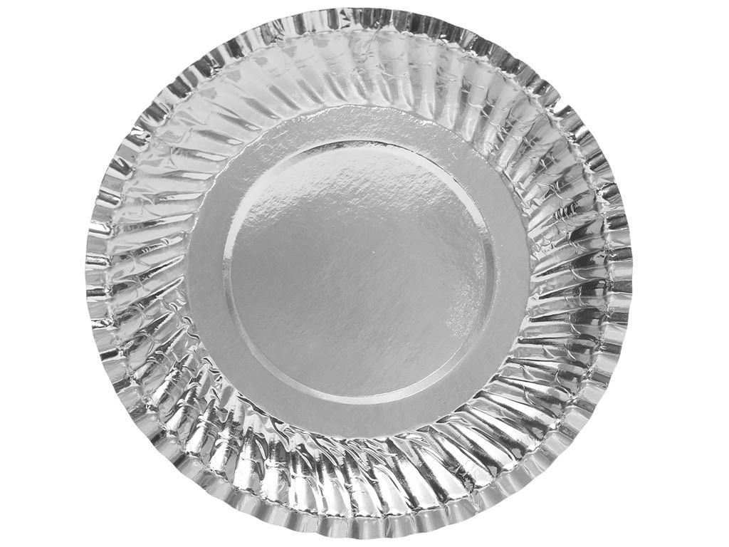 Dĩa giấy phủ bạc Hunufa 16cm (10 cái) 5